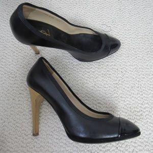 Yves Saint Laurent Shoes Heels Womens 38.5 Black